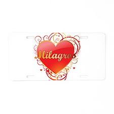 Milagros Valentines Aluminum License Plate