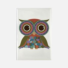 Little Colorful Owl Rectangle Magnet