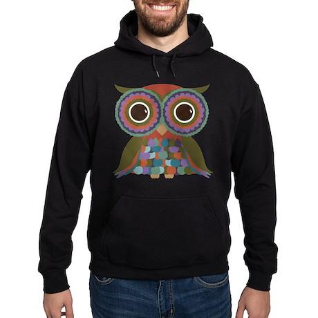Little Colorful Owl Hoodie (dark)