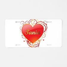 Tania Valentines Aluminum License Plate