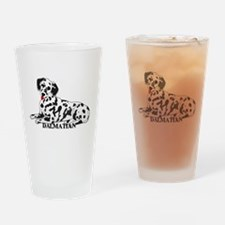 Cartoon Dalmatian Drinking Glass