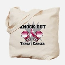 Knock Out Throat Cancer Tote Bag