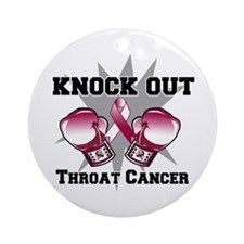Knock Out Throat Cancer Ornament (Round)