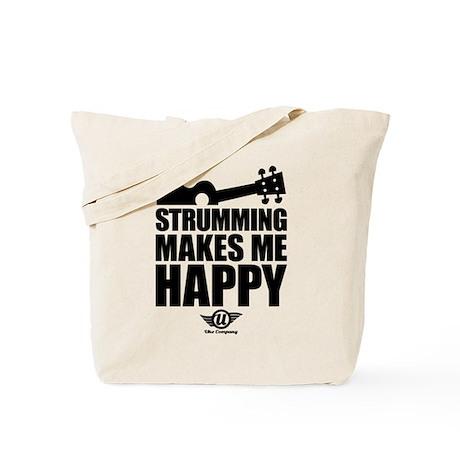 Strumming Ukulele Makes Me Ha Tote Bag