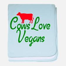Cows Love Vegans baby blanket