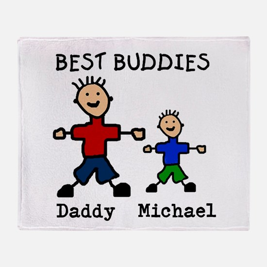 Cute Fathers day Throw Blanket