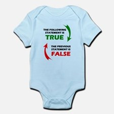 True and False Infant Bodysuit