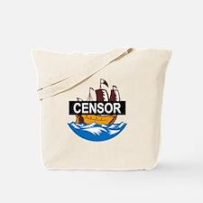 Censorship Ship Boat Tote Bag