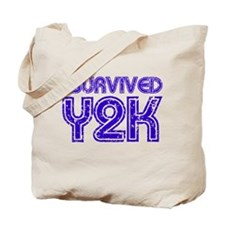 I Survived Y2K - Purple Tote Bag
