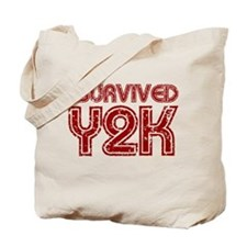 I Survived Y2K - Red Tote Bag