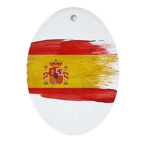 Spain Flag Ornament (Oval)