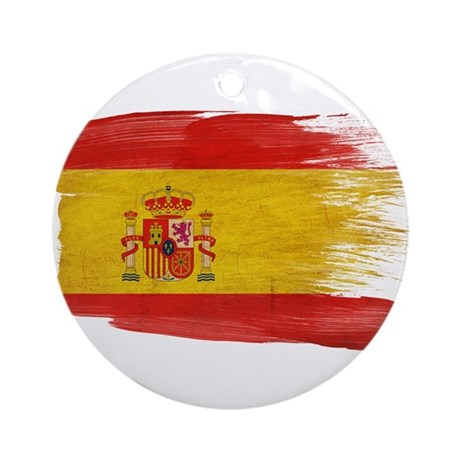 Spain Flag Ornament (Round)
