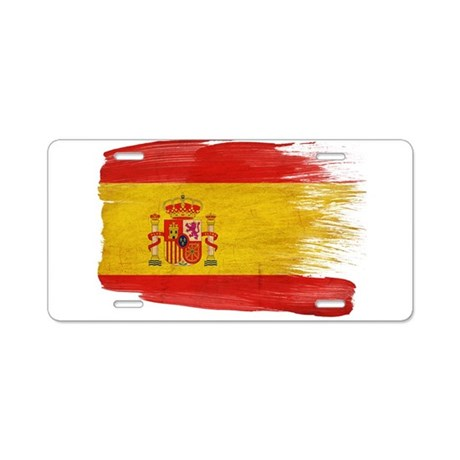 Spain Flag Aluminum License Plate