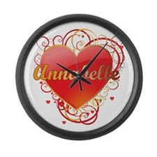 Annabelle Valentines Large Wall Clock
