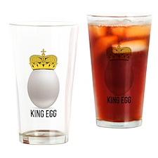 white king egg Drinking Glass