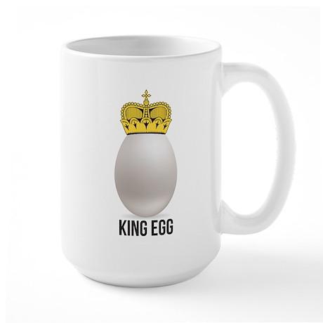 white king egg Large Mug