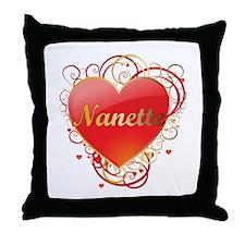 Nanette Valentines Throw Pillow