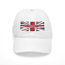 Union Jack British flag Abst Baseball Cap