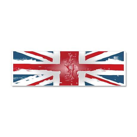 Union Jack British flag Abst Car Magnet 10 x 3