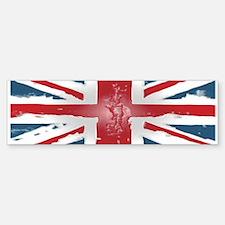 Union Jack British flag Abst Bumper Bumper Sticker