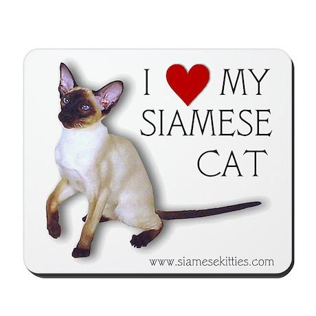 Mousepad - I love my Siamese Cat