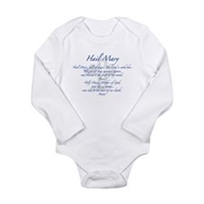 Unique Hail mary Long Sleeve Infant Bodysuit