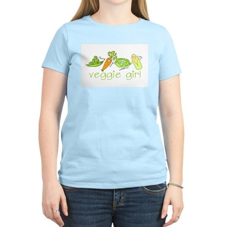 Veggie Girl Women's Pink T-Shirt