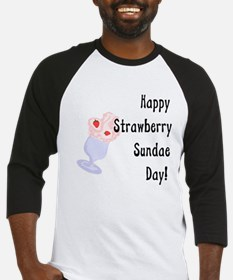 Happy Strawberry Sundae Day Baseball Jersey