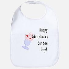 Happy Strawberry Sundae Day Bib