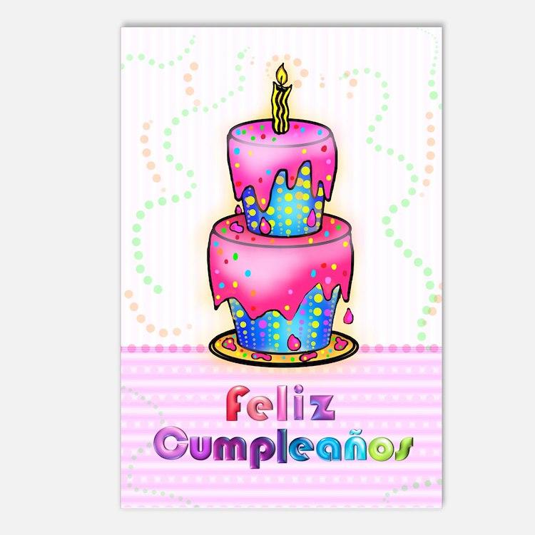Feliz Cumpleaos Postcards (Package of 8)