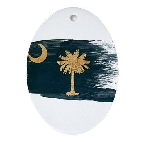 South Carolina Flag Ornament (Oval)