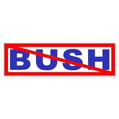 Bush? No! Bumper Bumper Sticker