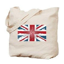 Union Jack British flag Abst Tote Bag