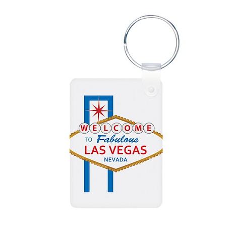 Welcome to Las Vegas Aluminum Photo Keychain