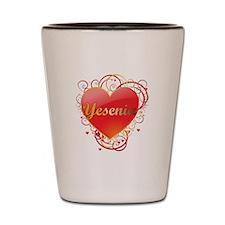 Yesenia Valentines Shot Glass