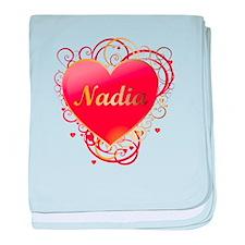Nadia Valentines baby blanket