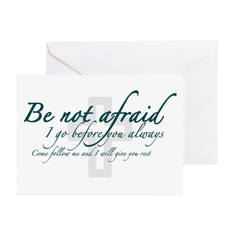 Be Not Afraid - Religious Greeting Cards (Pk of 10