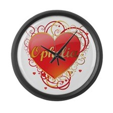 Ophelia Valentines Large Wall Clock