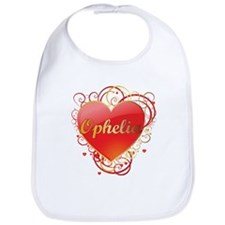Ophelia Valentines Bib