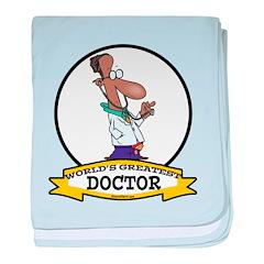 WORLDS GREATEST DOCTOR II CARTOON baby blanket