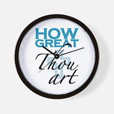 How Great Thou Art Wall Clock