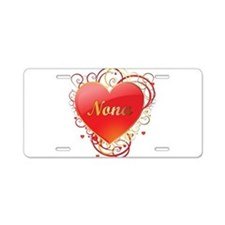 Nona Valentines Aluminum License Plate