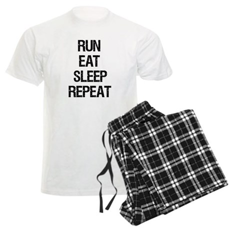 Run Eat Sleep Repeat Men's Light Pajamas