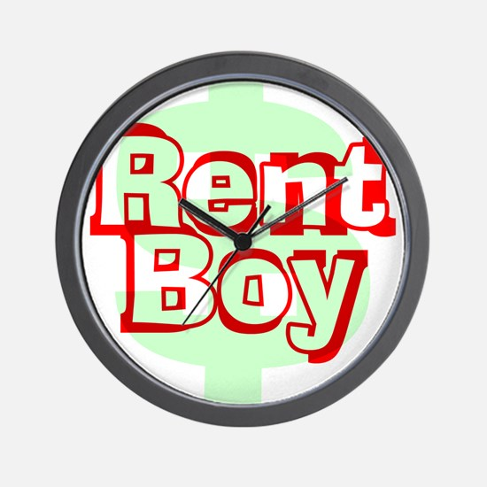 Rent Boy - White.png Wall Clock