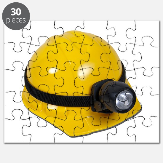Hard Hat with Lamp Puzzle