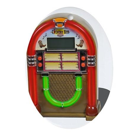 Jukebox Ornament (Oval)