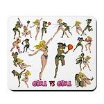 Girl VS Girl Full LIne Basketball Mousepad