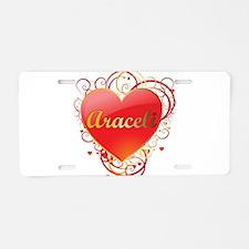 Araceli Valentines Aluminum License Plate