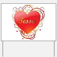 Tessa Valentines Yard Sign