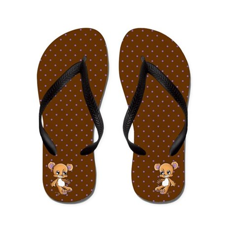 Teddy M. Bear Flip Flops